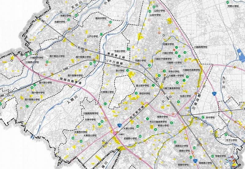 川越 市 ハザード マップ